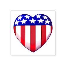 """MY AMERICAN HEART Square Sticker 3"""" x 3"""""""