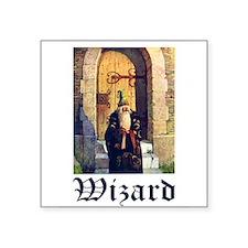 "Wizard_1010300.jpg Square Sticker 3"" x 3"""