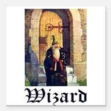 "Wizard_1010300.jpg Square Car Magnet 3"" x 3"""