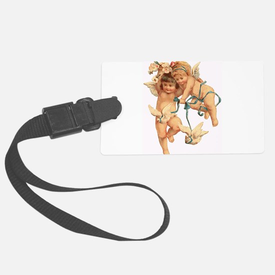 cherubs and doves Luggage Tag