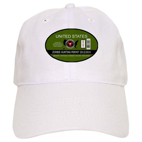 zombie hunting permit oval Cap