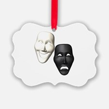 MASKS OF COMEDY & TRAGEDY Ornament