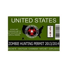 zombie permit rectangle Rectangle Magnet (10 pack)