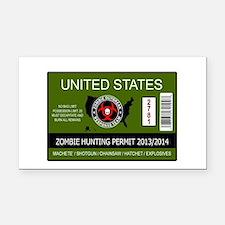 zombie permit rectangle Rectangle Car Magnet