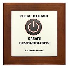 Press to Start Karate Demonstration Framed Tile