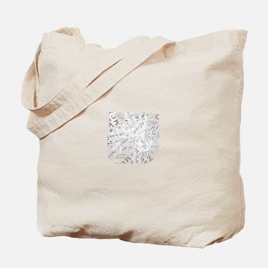 EquationSplatter Tote Bag
