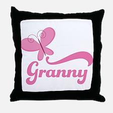 Granny Grandma Breast Cancer Throw Pillow