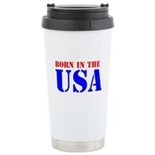 BORN IN THE U.S.A. IIIT Travel Mug