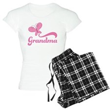 Grandma Breast Cancer Butterfly Pajamas