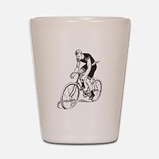 Retro Cyclist Shot Glass
