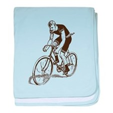 Retro Cyclist baby blanket