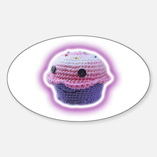 Yarn Cupcake Sticker (Oval)