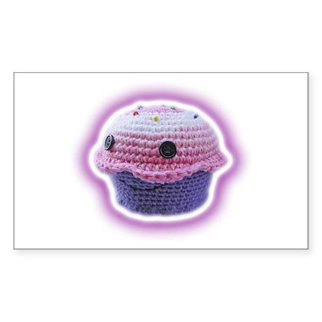 Yarn Cupcake Sticker (Rectangle)