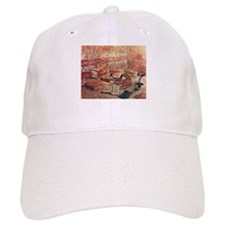 Van Gogh French Novels and Rose Baseball Cap