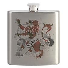 Wallace Tartan Lion Flask