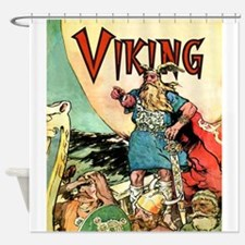 Vintage Viking Shower Curtain