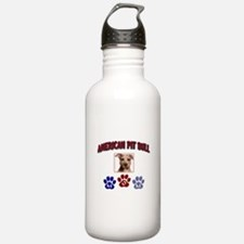 Unique Pit bull mom Water Bottle