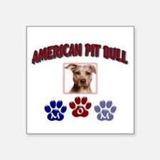 "Unique Pit bull design Square Sticker 3"" x 3"""