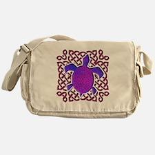 Celtic Knot Turtle (Purple) Messenger Bag