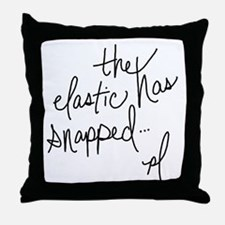 Cycling Quotes - The Elastic Has Snapped Throw Pil