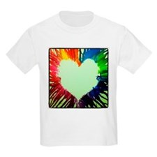 Vibrantly Colored Heart T-Shirt