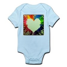 Vibrantly Colored Heart Infant Bodysuit