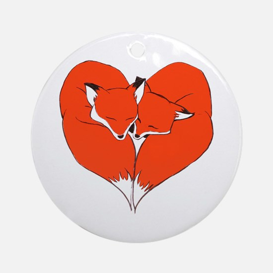 Foxes Mate for Life Ornament (Round)