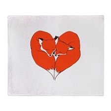 Foxes Mate for Life Throw Blanket