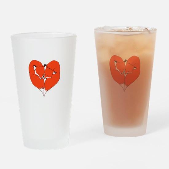 Foxes Mate for Life Drinking Glass