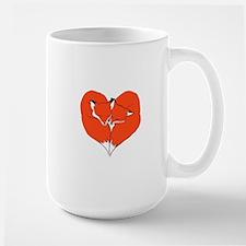 Foxes Mate for Life Large Mug