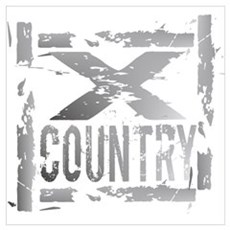 Cross Country Grunge Framed Print