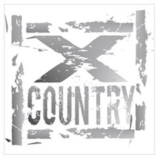 Cross Country Grunge Poster