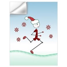 Holiday Runner Guy Poster and Wall Art Wall Decal