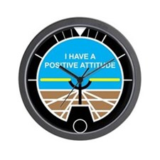 I Have a Positive Attitude Wall Clock