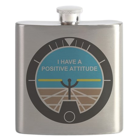 I Have a Positive Attitude Flask