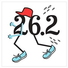 Funny Marathoner 26.2 Poster And Wall Art Canvas Art
