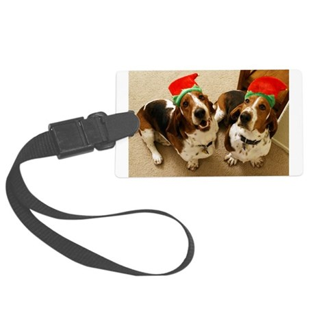 howliday_bassets.png Large Luggage Tag