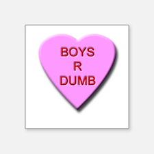 "boysrdumb.png Square Sticker 3"" x 3"""