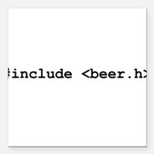 "includetequila_bk.png Square Car Magnet 3"" x 3"""