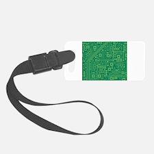 Green Circuit Board Luggage Tag
