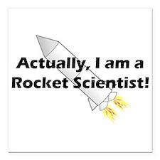 "Rocket Scientist Square Car Magnet 3"" x 3"""