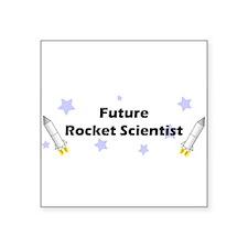 "futurerocket.jpg Square Sticker 3"" x 3"""