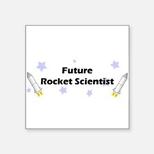 "futurerocket.jpg Square Sticker 3"" x 3"""