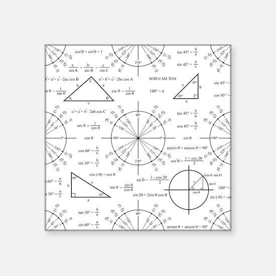 "unitcircle_bk.png Square Sticker 3"" x 3"""