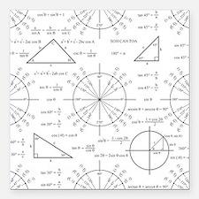 "unitcircle_bk.png Square Car Magnet 3"" x 3"""