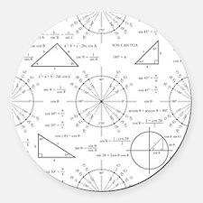 unitcircle_bk.png Round Car Magnet