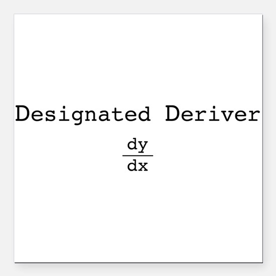 "dd_blk.png Square Car Magnet 3"" x 3"""