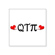 "qtpiheart.png Square Sticker 3"" x 3"""