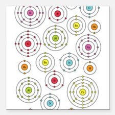 "periodic shells fabric.png Square Car Magnet 3"" x"