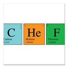 "chem_chef.png Square Car Magnet 3"" x 3"""